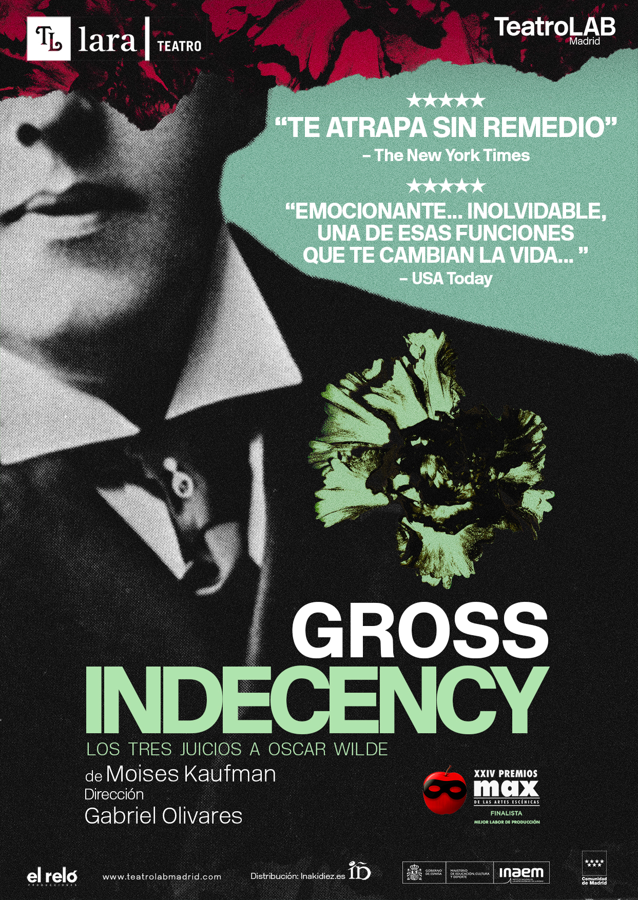 cartel Gross Indecency (Los tres juicios a Oscar Wilde)